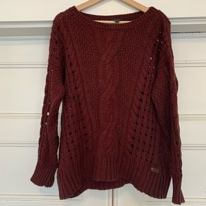 Roots Burgundy Sweater